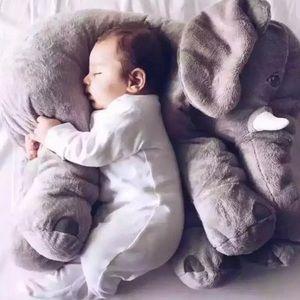 Elephant kids plush pillow. NIB!